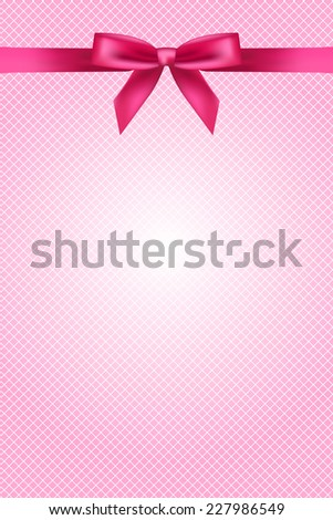 Pink wallpaper with bow and lace