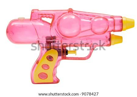 Pink Water Pistol - stock photo