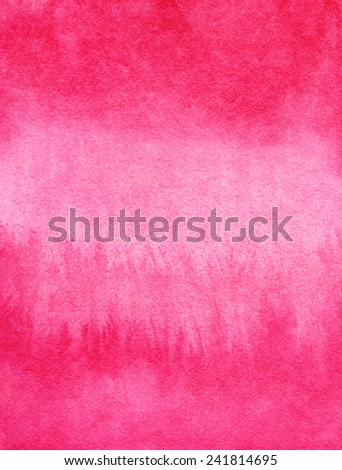 Pink watercolor backdrop. Hand drawn background texture gradient. Raster version. - stock photo