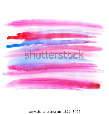 Pink watercolor background. Abstract aquarelle texture backdrop. Handmade technique.  - stock photo