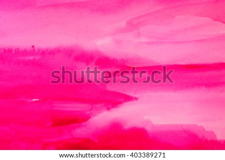 pink watercolors on textured paper surface - design element - abstract background  - stock photo