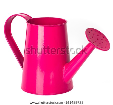 pink watering can  - stock photo