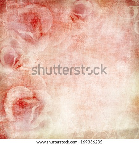 pink wedding background with roses  - stock photo