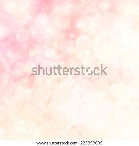 pink white boken background lights, blurred out of focus falling snow or rain in sky, shiny glittery lights or circle shapes, floating bubble background - stock photo