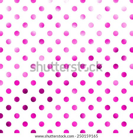 Pink White Polka Dot Pattern Swiss Dots Texture Digital Paper Background - stock photo