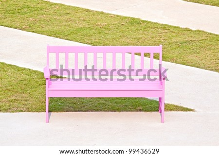 Pink wood chair