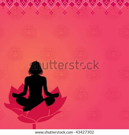 Pink yoga meditation background, also available in vector - stock photo
