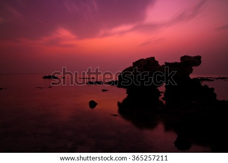 Pinkish Sunset  - stock photo