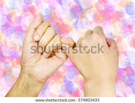 pinky swear or promise with love - stock photo