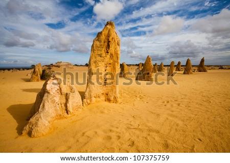 Pinnacles Desert - stock photo