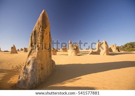 Pinnacles Desert at Nambung National Park in Australia