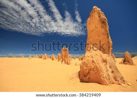Pinnacles, Western Australia - stock photo