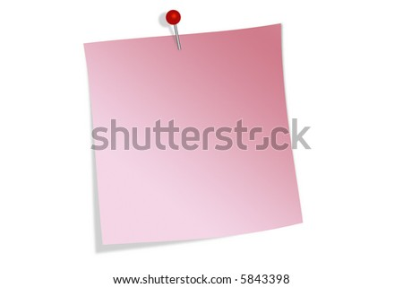 Pinned memo note - stock photo