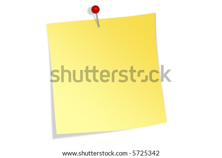 Pinned note - stock photo