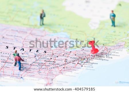 Pinned On Map New York Usa Stock Photo 403694449 Shutterstock