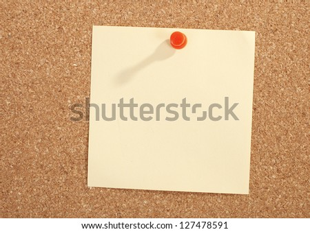 Pinned paper note message blank