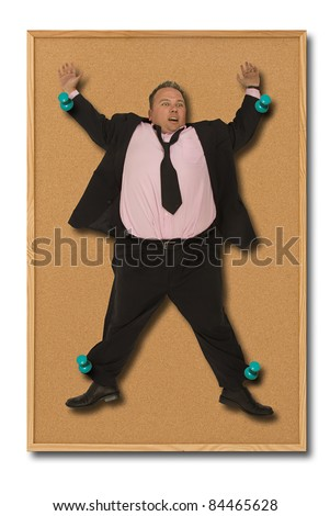 Pinned to the board - stock photo