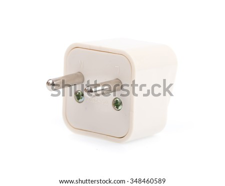 pins electrical adapters isolated on white background