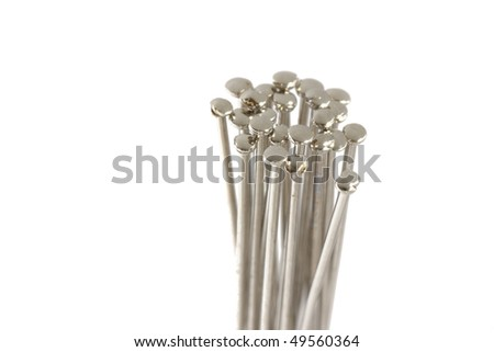 Pins isolated on white - stock photo