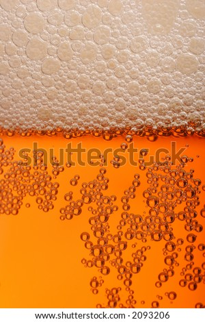 pint of beer, bitter, lager with bubbles