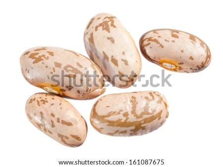 Pinto beans isolated on white background. - stock photo