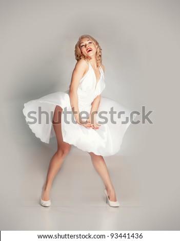 Pinup girl - stock photo