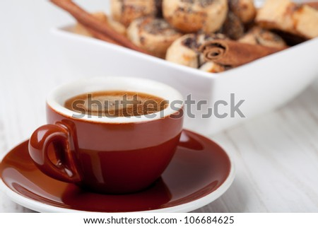 Pinwheel cookies and coffee cup