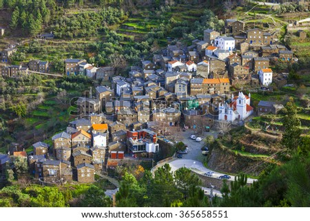 Piodao - beautiful traditional village in mountains, Portugal - stock photo