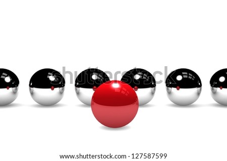 Pioneer - ball leading the others