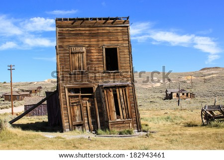Pioneer business now sits derelict and abandoned on a western prairie. - stock photo