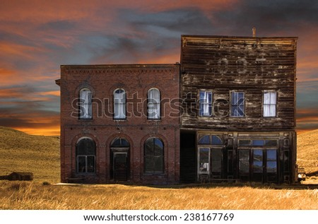 Pioneer business now sits derelict and abandoned on a western prairie.