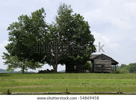 pioneer cabin-west virginia - stock photo