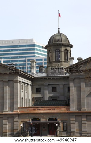 Pioneer courthouse Portland OR. - stock photo