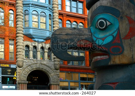 Pioneer's Totem - Seattle - stock photo