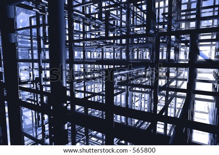 pipe chaos - stock photo