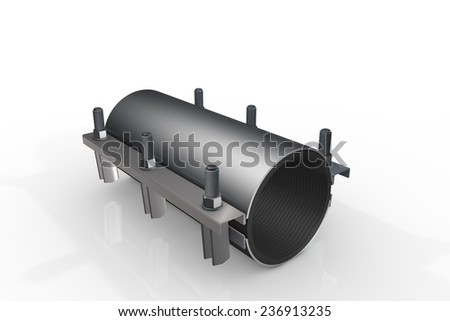 Pipe clamp - stock photo