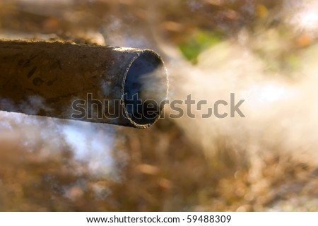 Pipe  exhaust   car - stock photo