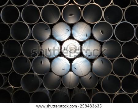 Pipe inside - stock photo