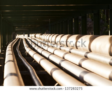 pipe line in heavy industry use for industrial theme