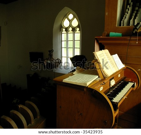 pipe organs - stock photo