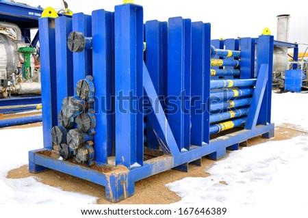 Pipe rack - stock photo