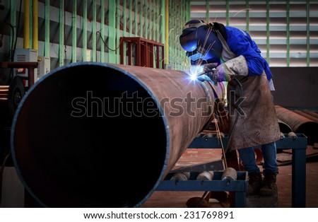 Pipe welding - stock photo