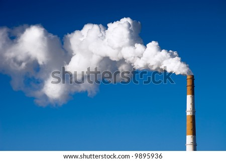 Pipe with dense smoke. High contrast effect.