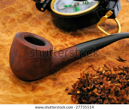 Pipe with tobacco. - stock photo