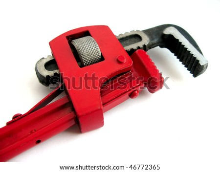 Pipe Wrench - stock photo