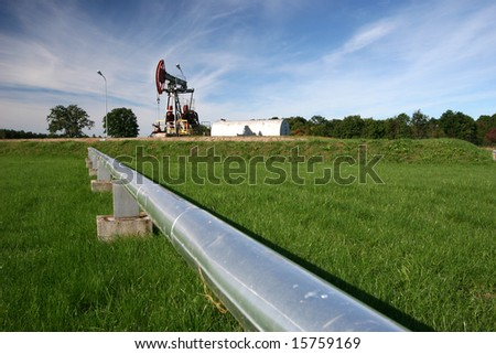 Pipeline coming from oil pump