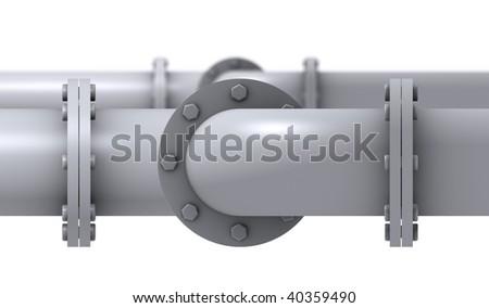 Pipeline Detail - stock photo
