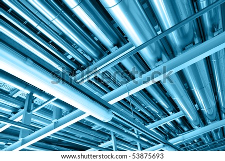 Pipeline, may be used as industrial background - stock photo