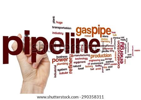 Pipeline word cloud concept - stock photo
