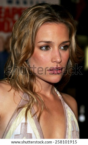 "Piper Perabo attends The 20th Century Fox World Premiere of ""Cheaper By The Dozen 2"" held at The Mann Village Theatres in Westwood, California on December 13, 2005.   - stock photo"